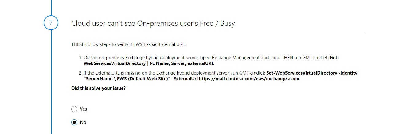 Free/Busy Information not working in an Exchange hybrid